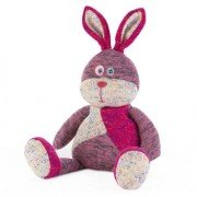 Peluche chauffante lapin rose Patchwork pour micro-onde