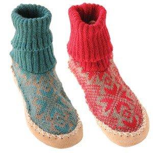 Chausson norvégien enfant cuir et laine
