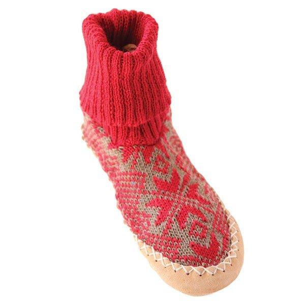 79d2fee03fbde Chausson norvégien enfant cuir et laine - Acheter sur Douce Bouillotte