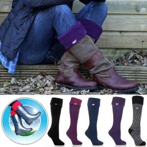 Chaussettes pour bottes femme avec bords Ultra Chaudes 37-42