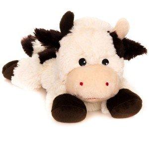 Bouillotte peluche micro-ondes Vache allongée