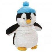 Grande peluche bouillotte Pingouin, déhoussable - 38 cm