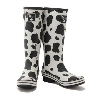 Bottes de pluie imprimées Vache blanc taches noires