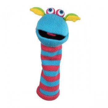 Marionnette chaussettes Scorch bleu et rouge simple 40cm.