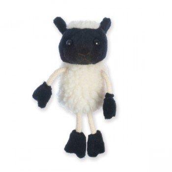 Marionnette à doigts Mouton blanc 15cm