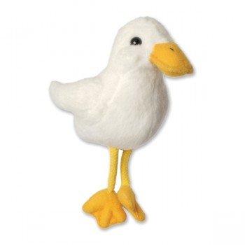 Marionnette à doigts Canard blanc 15cm