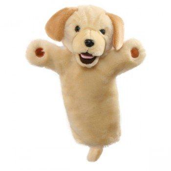 Marionnette à main Chien Labrador beige à longue manche