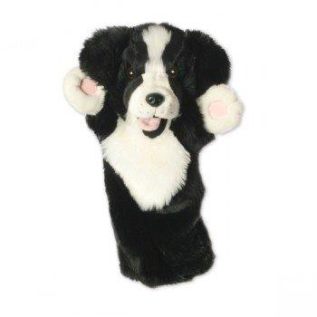 Marionnette à main Chien Border Collie à longue manche