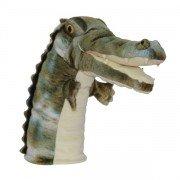 Marionnette enfant à main crocodile 25cm