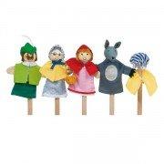 """4 Marionnettes à doigts """"Le petit chaperon Rouge"""""""