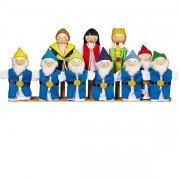 """10 Marionnettes à doigts """"Blanche neige et les 7 nains"""""""