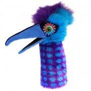Marionnette Oiseau Pélican bleu violet avec bruiteur