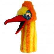 Marionnette Oiseau Muddle jaune et orange avec siffleur dans la bouche