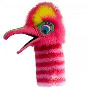 Marionnette Oiseau Pélican Fizzle rose avec bruiteur