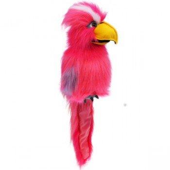 Grande Marionnette Pink Galah avec couineur et bouche articulée, 40cm