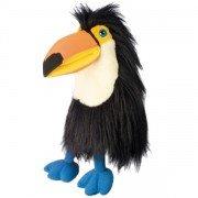 Grande Marionnette oiseau Toucan avec couineur et bouche articulée, 45cm