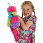 Grande Marionnette Oiseau du Paradis avec couineur et bouche articulée, 45cm
