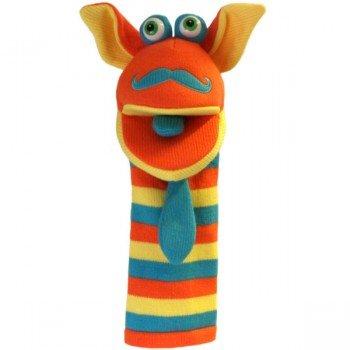 Marionnette chaussettes à bras Moustache 40cm.