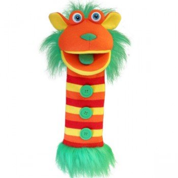 Marionnette chaussettes à bras Bouton 40cm