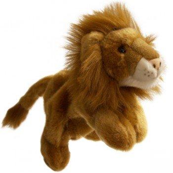 Marionnette enfant à main Lion 30cm