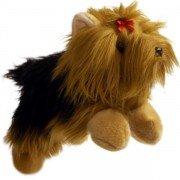 Marionnette enfant à main Chien Labrador crème 30cm