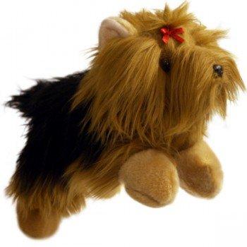 Marionnette enfant à main Chien Yorkshire, 30cm