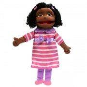Grande Marionnette Fille Noire, 60cm
