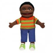 Marionnette Personnage Garçon Noir, 40cm