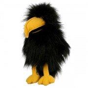 Marionnette Bébé Corbeau avec bruiteur et bouche articulée, 30 cm