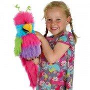 Marionnette enfant Oiseau du paradis bouche articulée  avec bruiteur, 30 cm