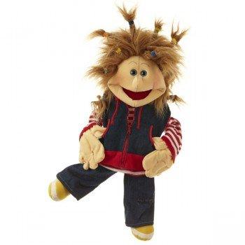 Marionnette Ronnie, Garçon rebelle à la veste en jean, 65cm