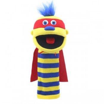 Marionnette chaussettes à bras Super Zap 40cm.