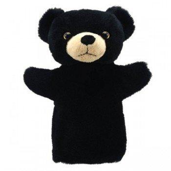Marionnette à main enfant Ours noir 22cm