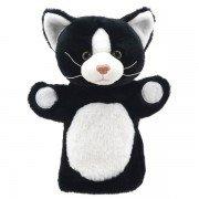 Marionnette à main enfant Chat noir et blanc 25cm