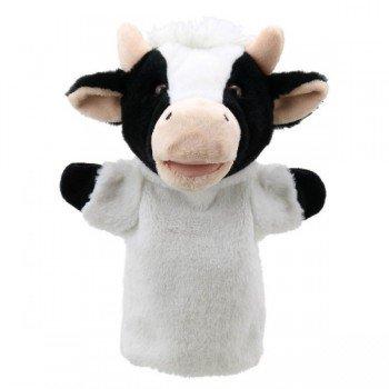 Marionnette à main enfant Vache 22cm