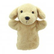 Marionnette à main enfant Buddies Labrador beige 22cm