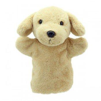 Marionnette à main enfant Chien Labrador beige 22cm