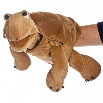 Grande Marionnette Tortue Marron, 54 cm