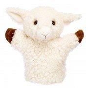 Marionnette mouton blanc enfant à main, 25cm