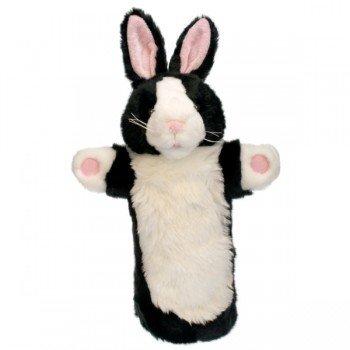 Marionnette enfant Lapin blanc et noir à longue manche