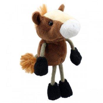 Marionnette à doigts Cheval marron 15cm