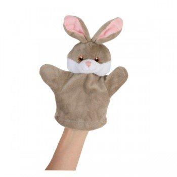 Doudou Marionnette à main pour bébé Lapin gris