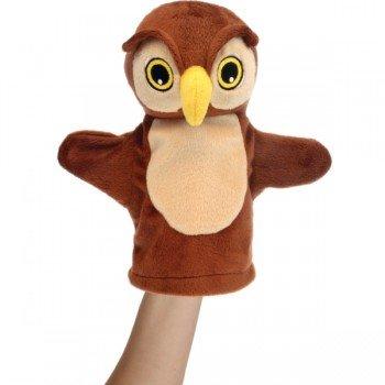 Marionnette peluche Bébé pour main Hibou