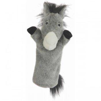 Marionnette à bras Ane gris à longue manche