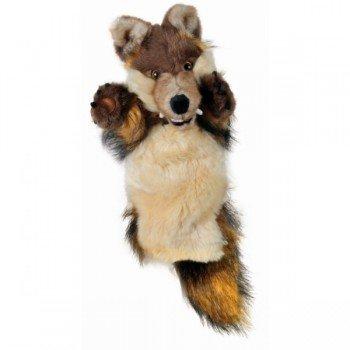 Marionnette Loup aux longs poils et longues manche pour enfants