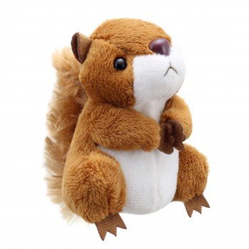 Marionnettes à doigts écureuil marron 10cm