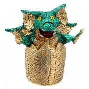 Marionette dragon dans son oeuf, 20cm
