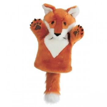 Marionnette enfant à main renard roux 25cm