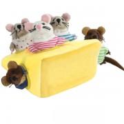 5 Marionnettes à doigts souris et leur fromage où se cacher