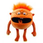 Marionnette avec couineur bébé Monstre orange